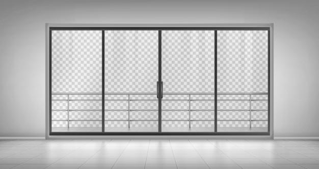 drsna steklena vrata